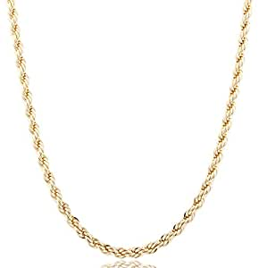 Goldtone 6mm Brass Rope Chain - Available in all Lengths (18 Inches) (P-813)