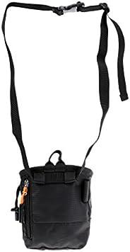 Cuboid Rock Climbing Chalk Bag with Waist Belt & Zipper Pocket & Dr