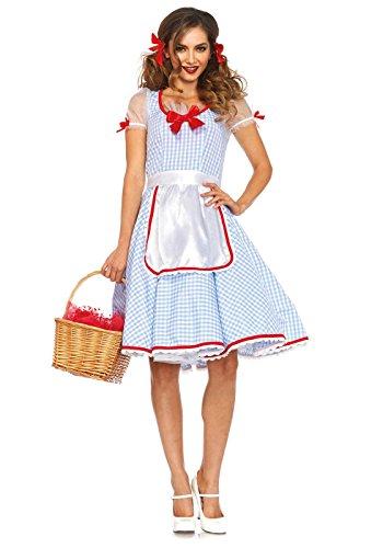[Leg Avenue Women's 2 Piece Kansas Sweetie Costume, Blue/White, Small] (Dorothy Womens Costumes)