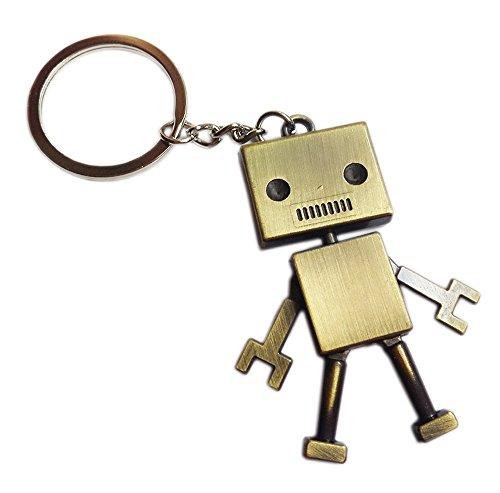 Viawow Robot Shaped Bronze Bag Charm Keychain Keyring Car Key Ring (Charm Key Ring)