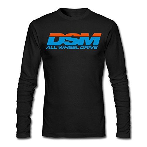 Plymouth Screws (Men's DSM All Wheel Drive (Diamond Star Motors) Long Sleeve T-Shirt Black)