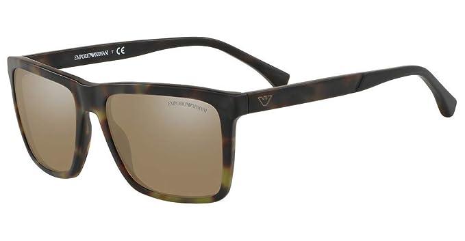 Emporio Armani 0EA4117 Gafas de sol, Matte Green Havana, 57 ...