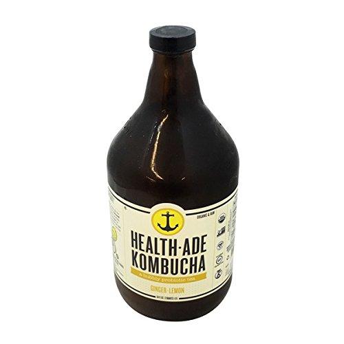 Health Ade Kombucha, Ginger Lemon, 64 Fluid Ounce (pack Of 06)
