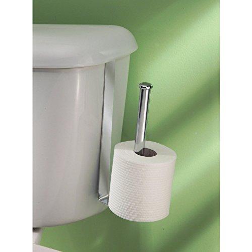 Interdesign classico toilet paper holder over the tank vertical chrome new ebay - Interdesign toilet paper holder ...