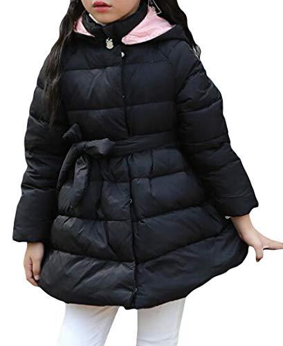 Giù Incappucciato Del Delle amp; Bambino Cintura Rivestimento Cappotto Nero H Inverno Oscillazione Il Bolla E Di Ragazze wYRAfqI