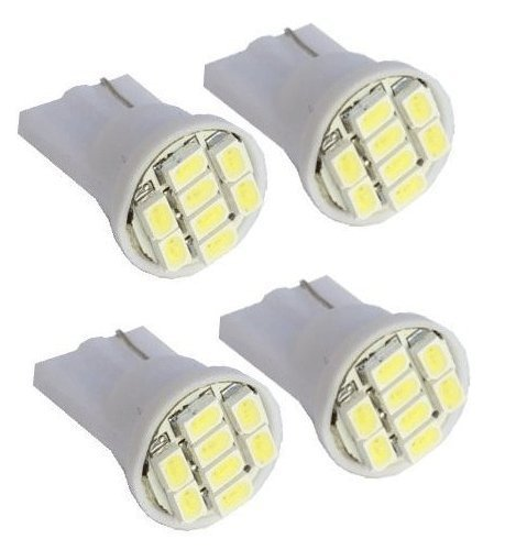 Cutequeen 4PCS LED Car Lights Bulb White T10 3528 8-SMD 194 168 (pack of 4)