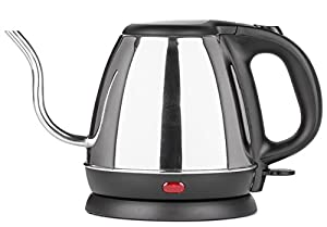 Zell Stainless Steel Electric Kettle   Precise Thin Spout for Pour Over Coffee or Tea   1200w Fast Heat Up and Automatic Shutoff Cordless Electric Gooseneck Water Kettle   800 ml