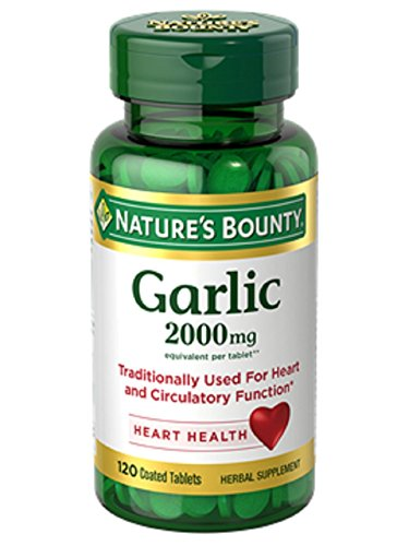 (Nature's Bounty Garlic, 2000mg, 120 Coated Tablets (Pack of 2))