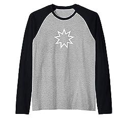 Bahai Nine Pointed Star Shirt Baha I Faith Raglan Baseball Tee