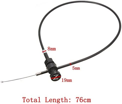 GOZAR Push Pull Starter Throttle Cable pour Yamaha Pw50 Pw80 Y-Zinger