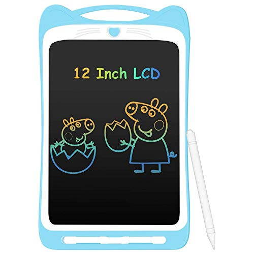 Colorful 8.5 Inch LCD Writing Tablet with Lock Function Electronic Doodle Pads Drawing Board Gift for Kids & Adults Mini Board Handwriting Pad Drawing,Blue,8.5inch