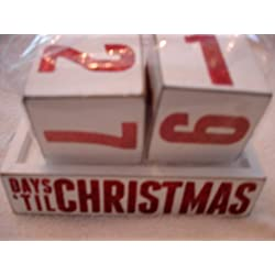 Primitives by Kathy Box Sign Days Til Christmas Countdown Blocks Wooden Calendar