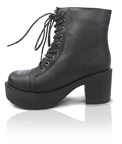 Laced Biker Boots - 6