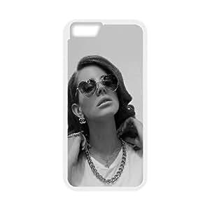 HD10 Lana Del Rey Oscuro Música Cantante Celebrity iPhone 6 Plus 5.5 pulgadas del teléfono celular funda blanca del teléfono celular Funda Cubierta EEECBCAAJ76969