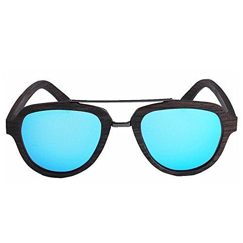 Lunettes plage Couleur soleil bois pêche TAC irréguliers chat Peggy en plein à polarisées en protection main Bleu conduite colorés des yeux de UV de lunettes lentille la hommes Gu Bleu soleil air Bqtw5