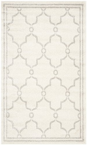 Safavieh Amherst Collection AMT414E Ivory and Light Grey Indoor/ Outdoor Area Rug (2'6