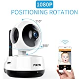FREDI Wireless 1080P Ip Baby Monitor Camera WiFi Home Security Surveillance Camera for Baby/Elder/Pet/Nanny Monitor, Pan/Tilt, Two-Way Audio & Night Vision
