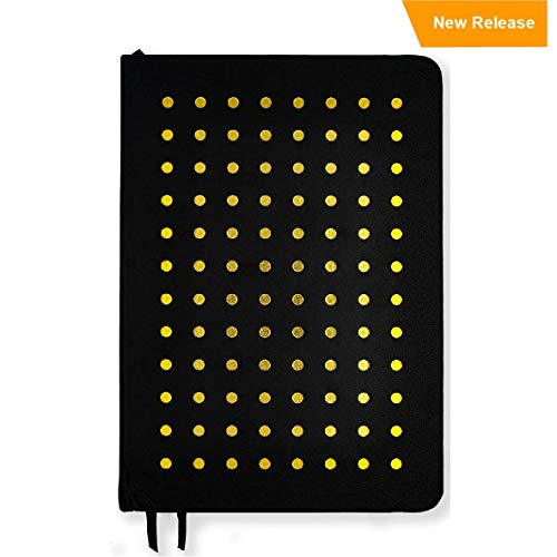 Dot Grid Notebook for Bullet Journaling - Hardcover 6 x 8 with Thick 100GSM Paper Perfect for Fountain Pens (Black)