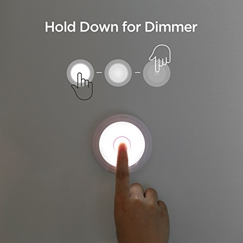 SOAIY Touch Light Battery Powered Ultra-Thin Touch Sensor LED Cabinet Lights, Magnet Stick-on Closet Light, LED Tap Night Lights for Kitchen, Bedroom, Stairs, Bar by SOAIY (Image #2)