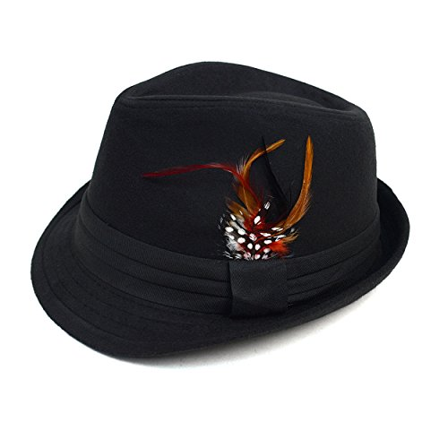 Men's Prohibition Style Feathered Fall/ Winter Fedora