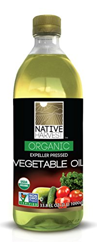 Native Harvest Organic Non-GMO Naturally Expeller Pressed Vegetable Oil, 1 Litre (33.8 FL OZ) by Native Harvest