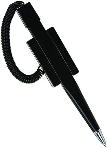 PACK OF 50 Leadbox.com Countertop Security Pens with Plastic Coil and Mounting Base