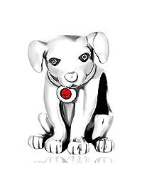Lovans Swarovski Crystal Pet Lover Puppy Dog 925 Sterling Silver Charm Bead Fits Pandora Charms