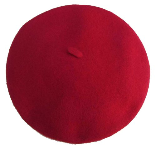 Vieux Carre Traditional French Wool Beret, Red by Blancq-Olibet (Image #1)