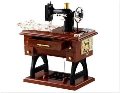 Clásica Retro máquina de coser caja de música regalo decoración ...