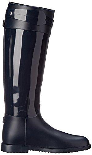 SLOOSH Italy Women's Tall Glossy Rain Boot Navy zbTFIANR4
