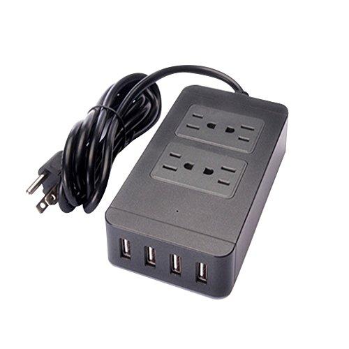 - US Plug Power Strip Socket Adapter Smart 4 Outlet 4 USB Port Surge Protector Charger Cord Charging Station 110-250V