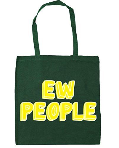 HippoWarehouse personas EW TOTE compras bolsa de playa 42cm x38cm, 10litros verde oscuro