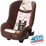 Safe COSCO Convertible Car Seat Scenera NEXT for At Least 2 Years Babies, Kids, Toddlers with Side Impact Protection, 5-point Front Harness, 5 Heights and 3 Buckle Location for BEST FIT, Forward-facing 22-40 Lbs (29 to 43), COMPACT LIGHTWEIGHT TSA Design for Airport Security, Fits 3 Across in the Back Seat of Any Vehicle and Airplane, Machine Washable and Dryer Safe Seat Pad, Dishwasher Safe Removable Cup Holder, Meets and Exceed NHTSA tandards, MADE in USA (Realtree Pink) by Cosco