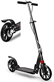 Scooters for Kids,Kick Scooter Scooters Adult Adult Kick with Big Wheels and Disc Handbrake Dual Suspension Fo