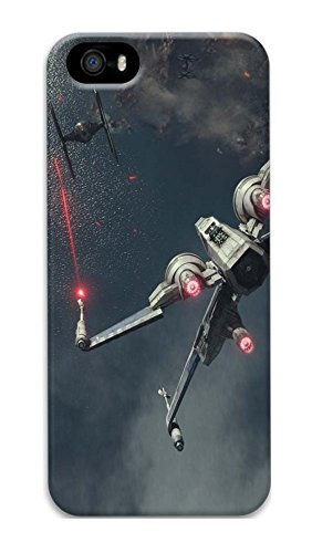 iPhone 5 Case, iPhone 5S Case Unique Custom Design Star Wars Tie Fighter X Wing Hard Slim 3D Protective Cover for iPhone 5/5S
