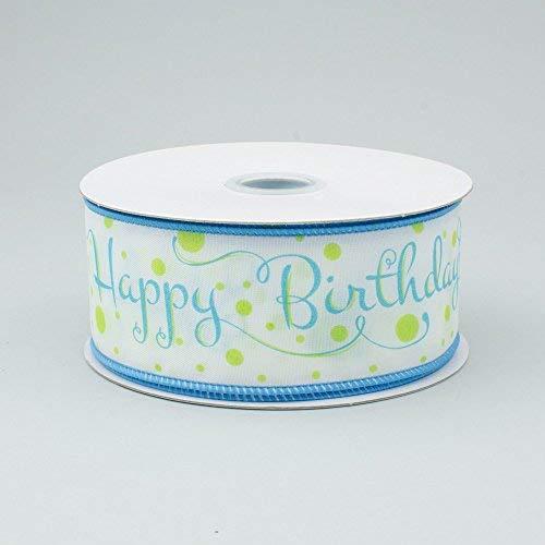 Printed Ribbon Happy Birthday - 1.5