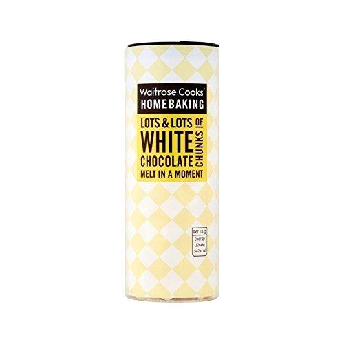 Cooks' Ingredients Belgian White Chocolate Chunks Waitrose 100g - Pack of 6