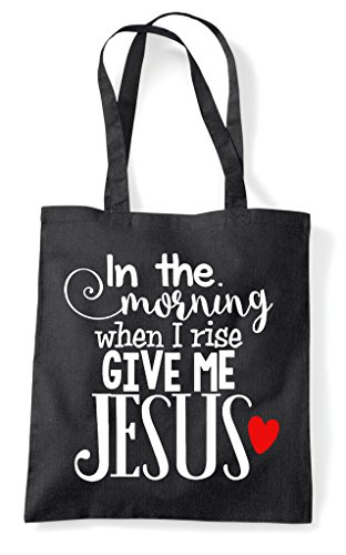 Black Jesus Shopper Tote Give Me Bag 74Kvq