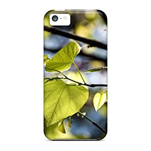 StaceyBudden Shockproof Scratcheproof Tree Leaves Bokeh Hard Cases Covers For Iphone 5c