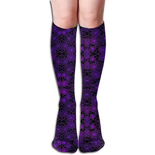 Unisex Purple Spider Web Sports Long Casual Socks Knee High Breathable Sock ()