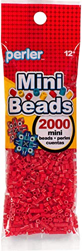 Perler Mini Fuse Bead canutillos, 2000pcs, rojo