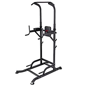 K KiNGKANG Power Tower Adjustable Height Multi-Function Home Strength Training Fitness Workout Station, T056