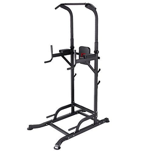 K KiNGKANG Power Tower with Cushion Adjustable Height Multi-Function Home Strength Training Fitness Workout Station, T056