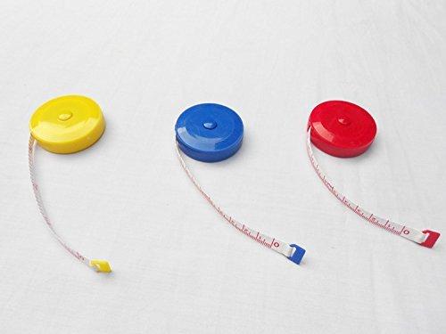 12 Pcs 150cm 60 Inch Push Button Soft Retractable Tape Measure
