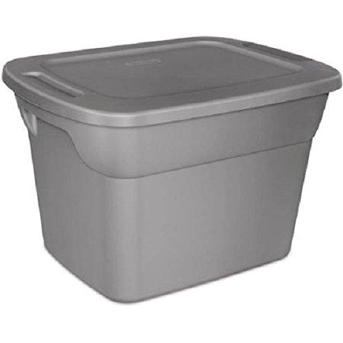 Sterilite 4 Titanium Gray 18 Gallon (72 Quart) Storage Container Latch Tote Organizer Bin (Containers 72 Quart Storage)