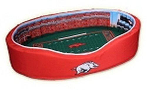 NCAA Arkansas Razorbacks Stadium Pet Beds, 26 x 36-Inch