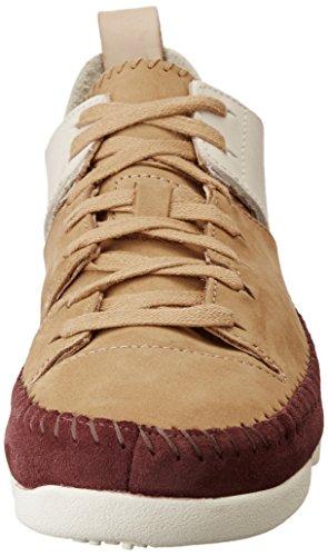 Beige Beige Women's Clarks Sneakers UK Maple Flex Top Fudge Trigenic 3 Low 1xqaBOAnwT