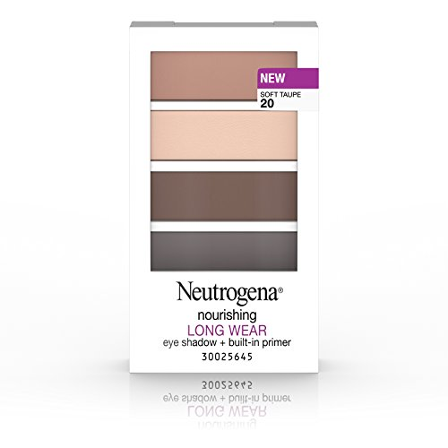 Neutrogena Nourishing Long Wear Eye Shadow + Built-In Primer, 20 Soft Taupe, .24 Oz.