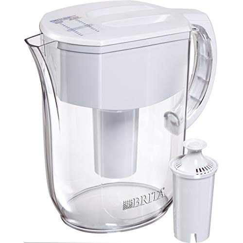 Brita Pitchers 1.00603E+13 Large 10 Cup 1 Standard Filter, BPA Free – Everyday Brita Water Pitcher, w 1 std, White