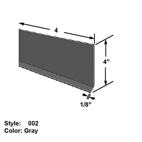 - Vinyl Plastic Glue-On Surface Guard for Wall Bases, Style 002 - Wd. 4